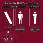 Como Matar Vampiros con una Estaca o Haciendo una pelicula de un vampiro que brille