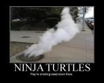 Ninja Turtles Fumando Mota ahi abajo