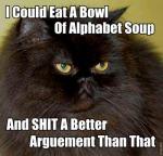 Puedo comer una sopa de letras y cagar un mejor argumento