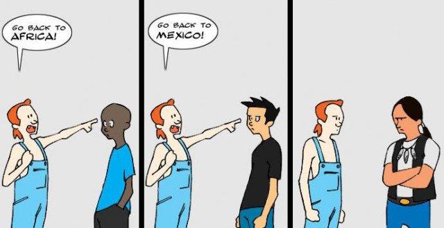 Un chiste racial