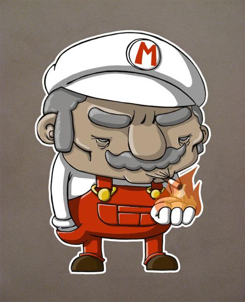 Mario Bros Viejito Hazme El Recavor Fabron