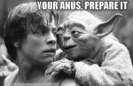 Tu culo, preparar debes...