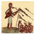 en un concierto de Spidermans
