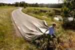 las carretereas las ponene por la madrugada asi de facil