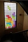Bonita forma de Joder una pared de vidrio