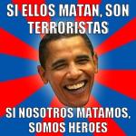 Terroristas equals Heroes