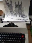 Psss Cunado me imaginaria que se podia hacer arte con la maquina de escribir