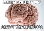 No puedo dormir en Casa... y no puedo mantenerme despierto en clase