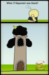 Rapunzel de raza Negra