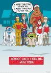 A nadie le gusta cantar villancicos con Yoda