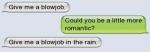 mamamela... podrias ser mas romantico.... mamamela bajo la lluvia