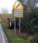 gracias por manejar con cuidado