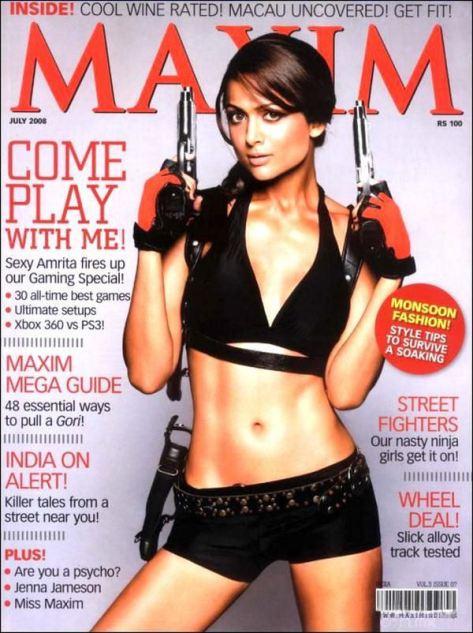 Amrita Arora es Lara Croft en Maxim India (13)
