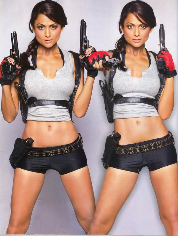 Amrita Arora es Lara Croft en Maxim India (6)