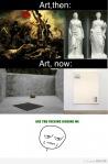 El arte antes y ahora