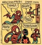 Que pasaria si Spiderman tuviera aracnofobia