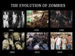 La evolucion de los zombies